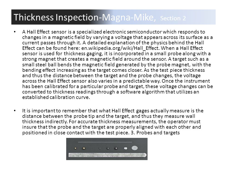 Thickness Inspection-Magna-Mike, Section 2
