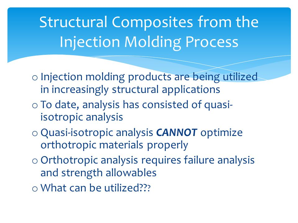 Structural Composites from the Injection Molding Process