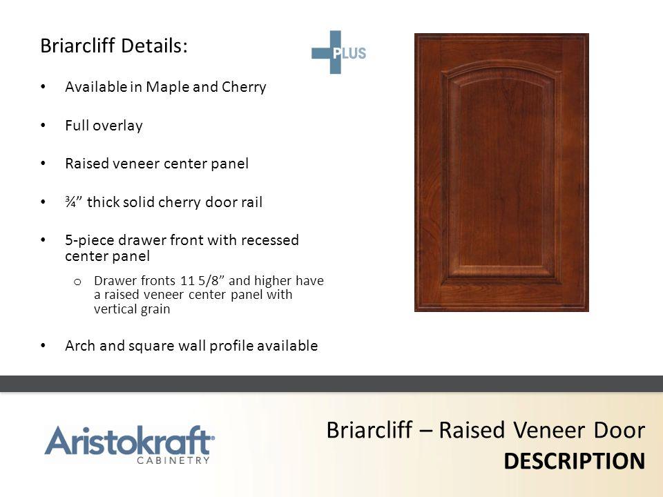 Briarcliff – Raised Veneer Door DESCRIPTION