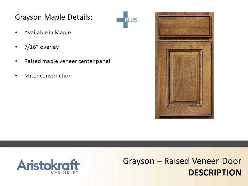 Grayson – Raised Veneer Door DESCRIPTION