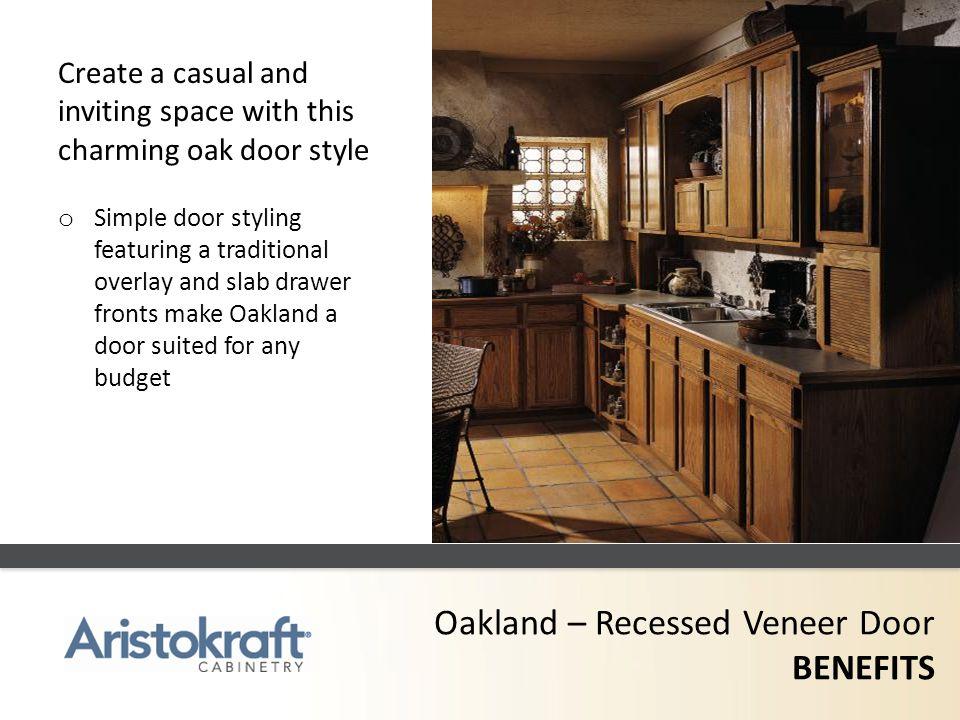 Oakland – Recessed Veneer Door BENEFITS