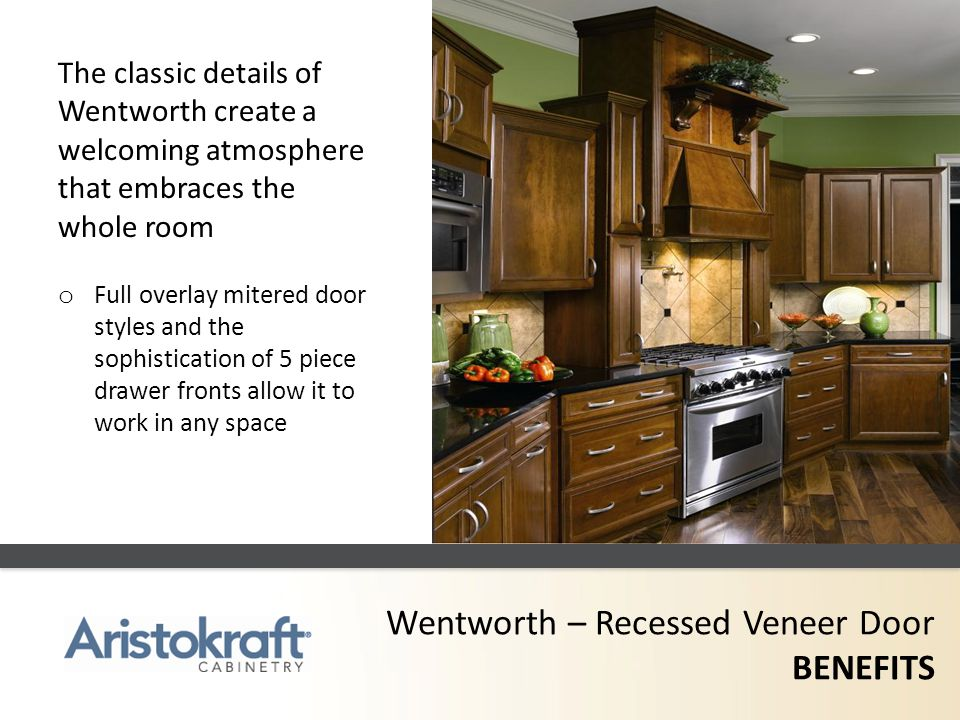 Wentworth – Recessed Veneer Door BENEFITS