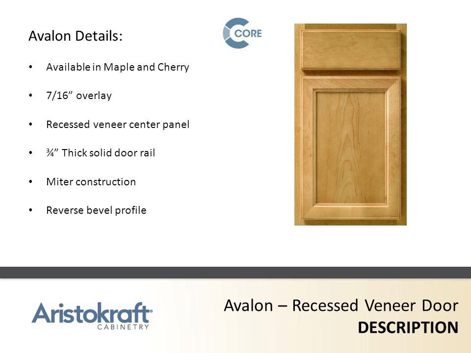 Avalon – Recessed Veneer Door DESCRIPTION