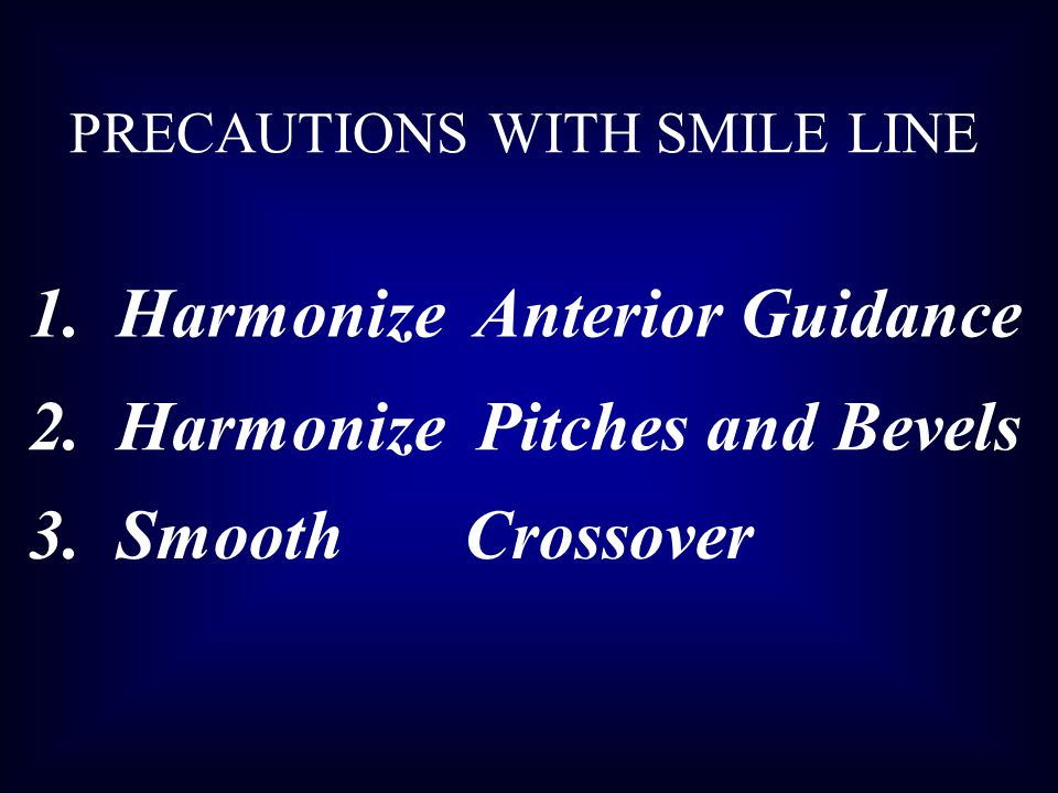 1. Harmonize Anterior Guidance