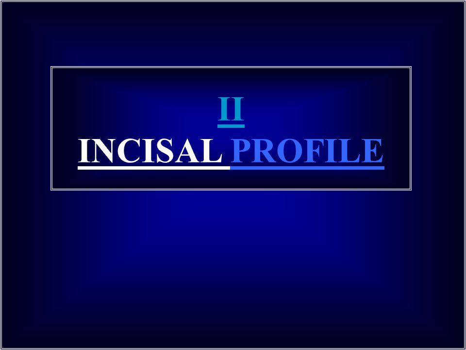 II INCISAL PROFILE