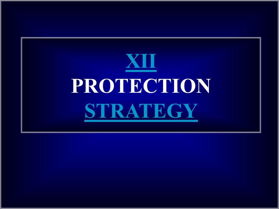 XII PROTECTION STRATEGY