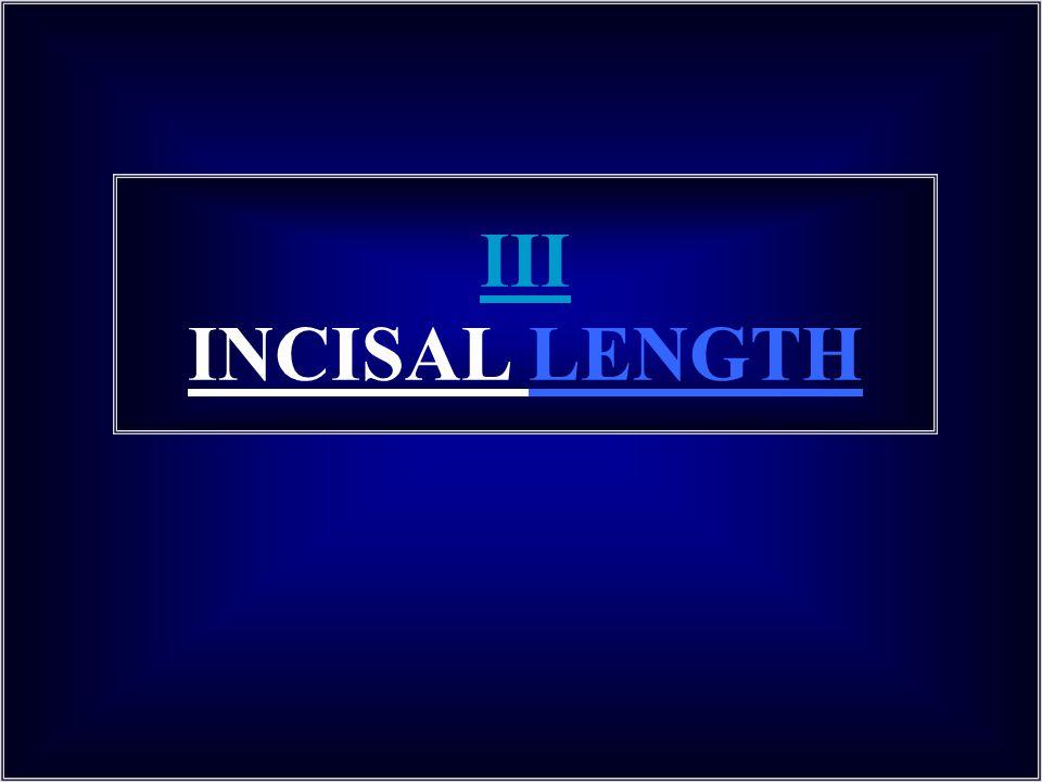 III INCISAL LENGTH