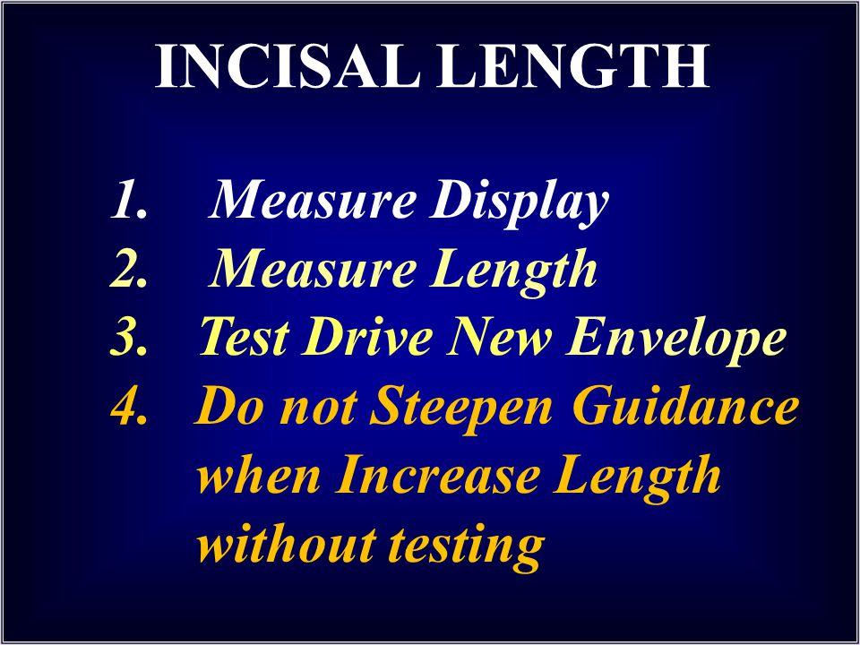 INCISAL LENGTH 1. Measure Display 2. Measure Length