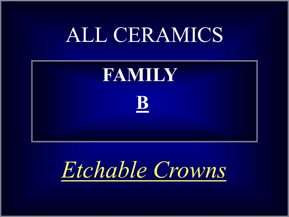 ALL CERAMICS FAMILY B Etchable Crowns