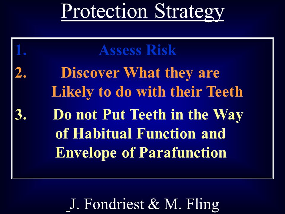 Protection Strategy Assess Risk