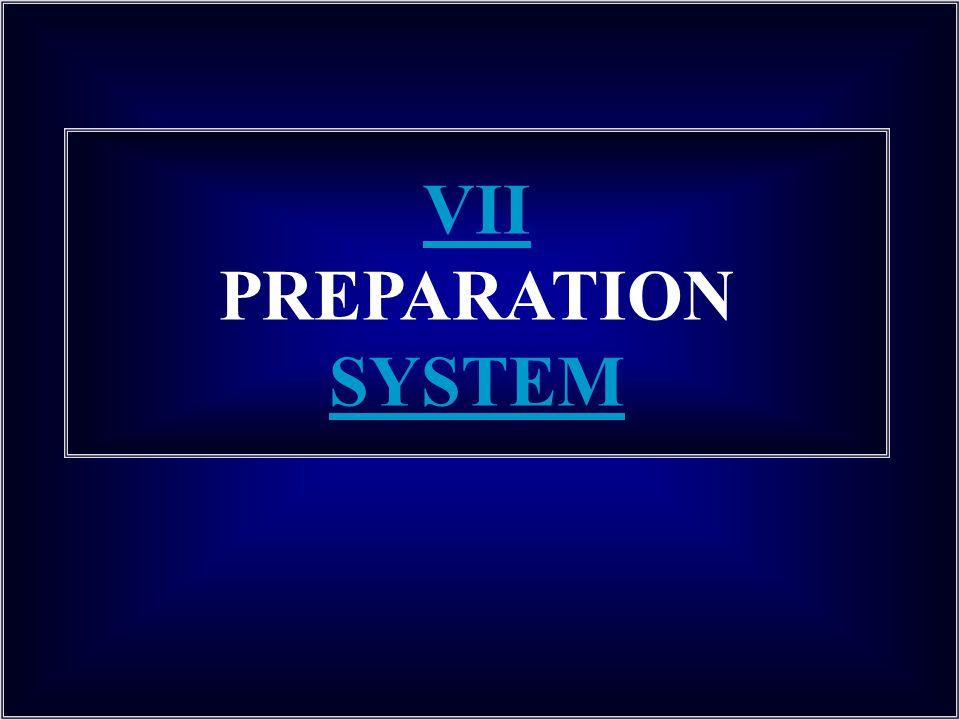 VII PREPARATION SYSTEM