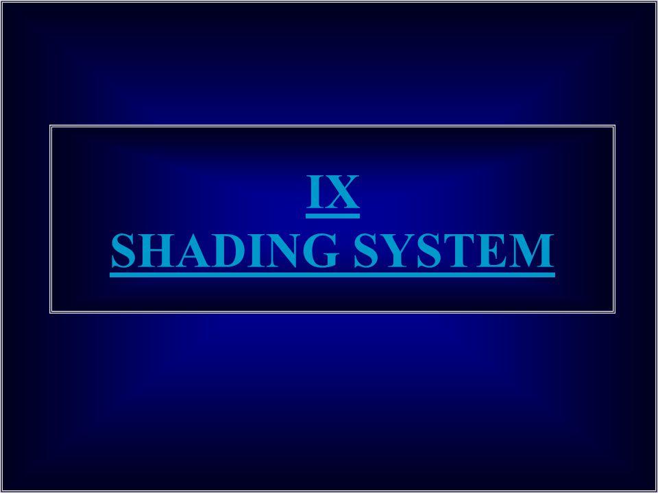 IX SHADING SYSTEM