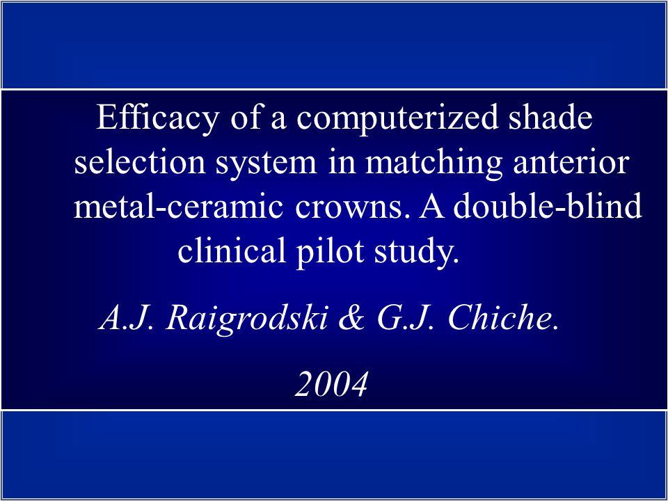 A.J. Raigrodski & G.J. Chiche. 2004