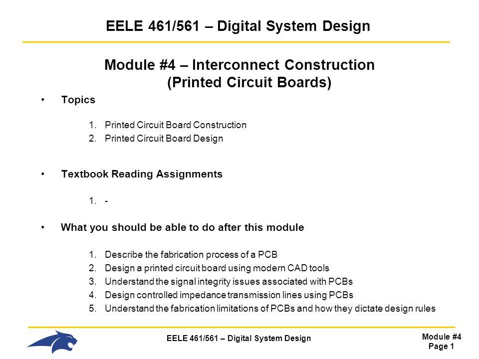 EELE 461/561 – Digital System Design