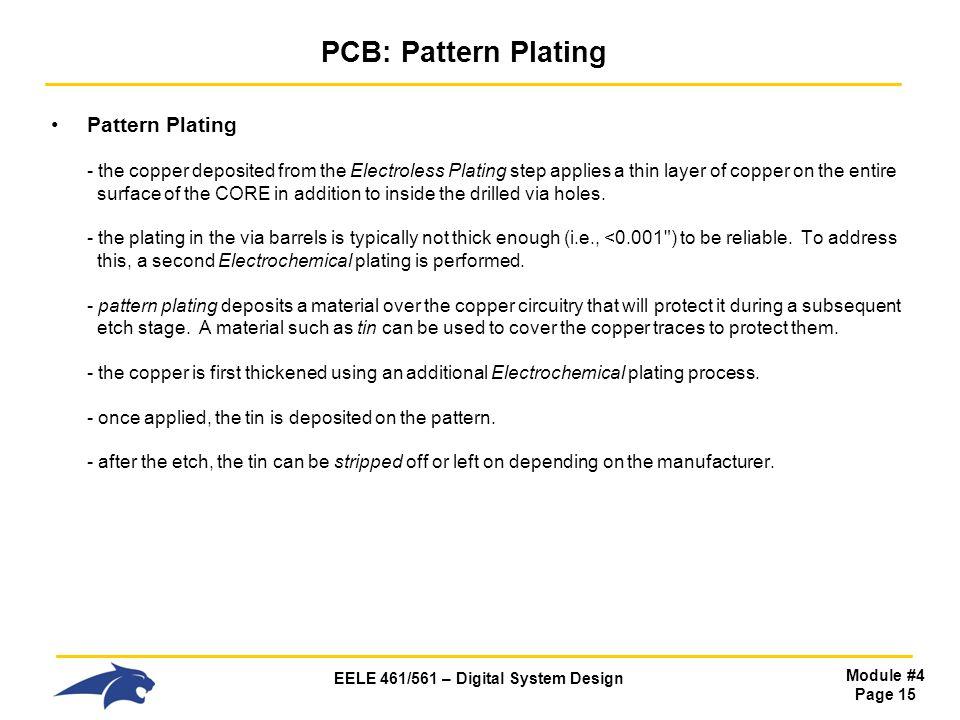 PCB: Pattern Plating