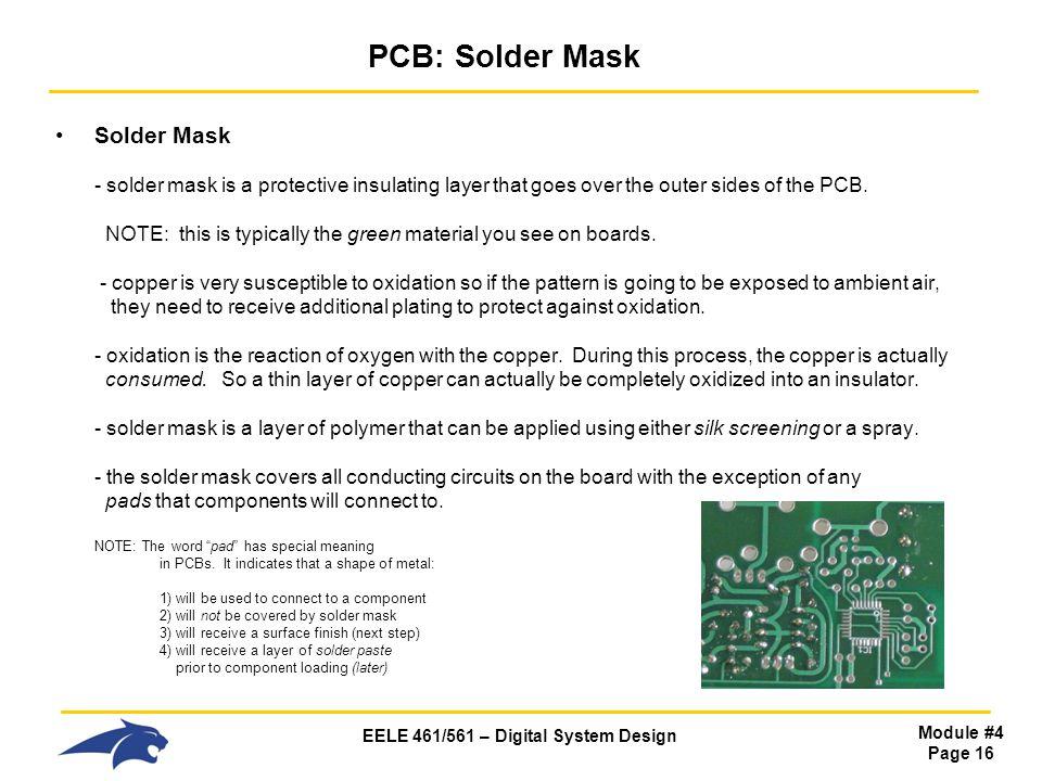 PCB: Solder Mask