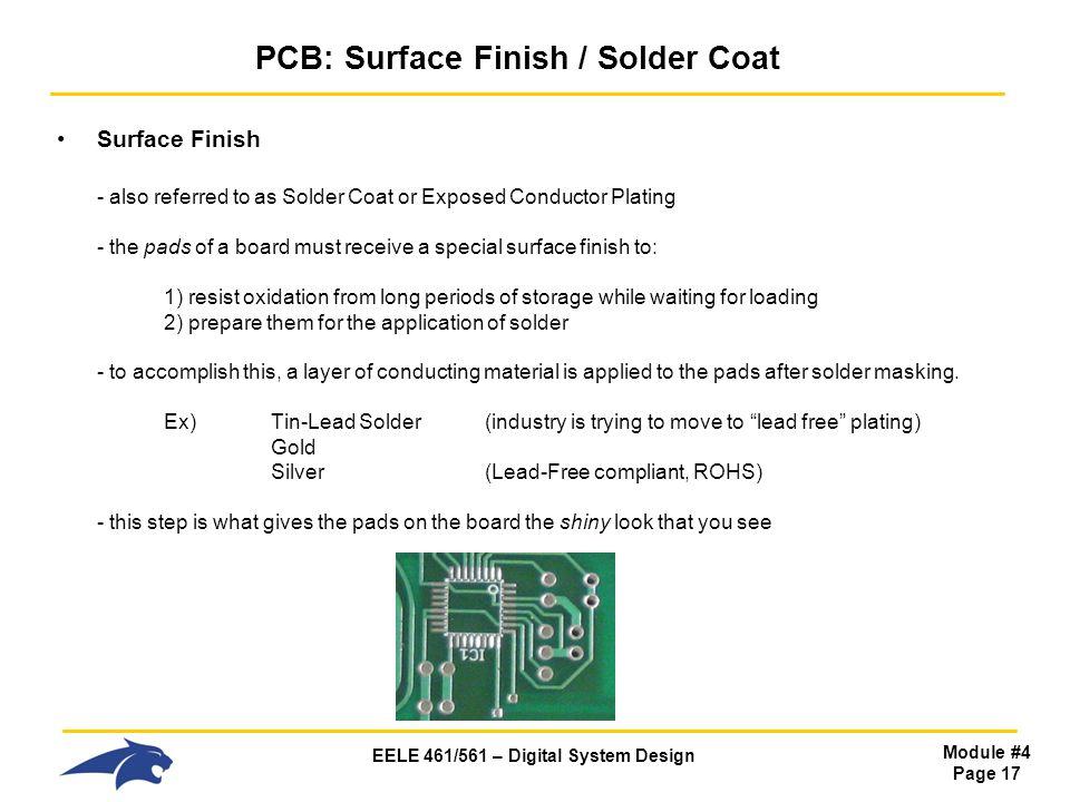 PCB: Surface Finish / Solder Coat
