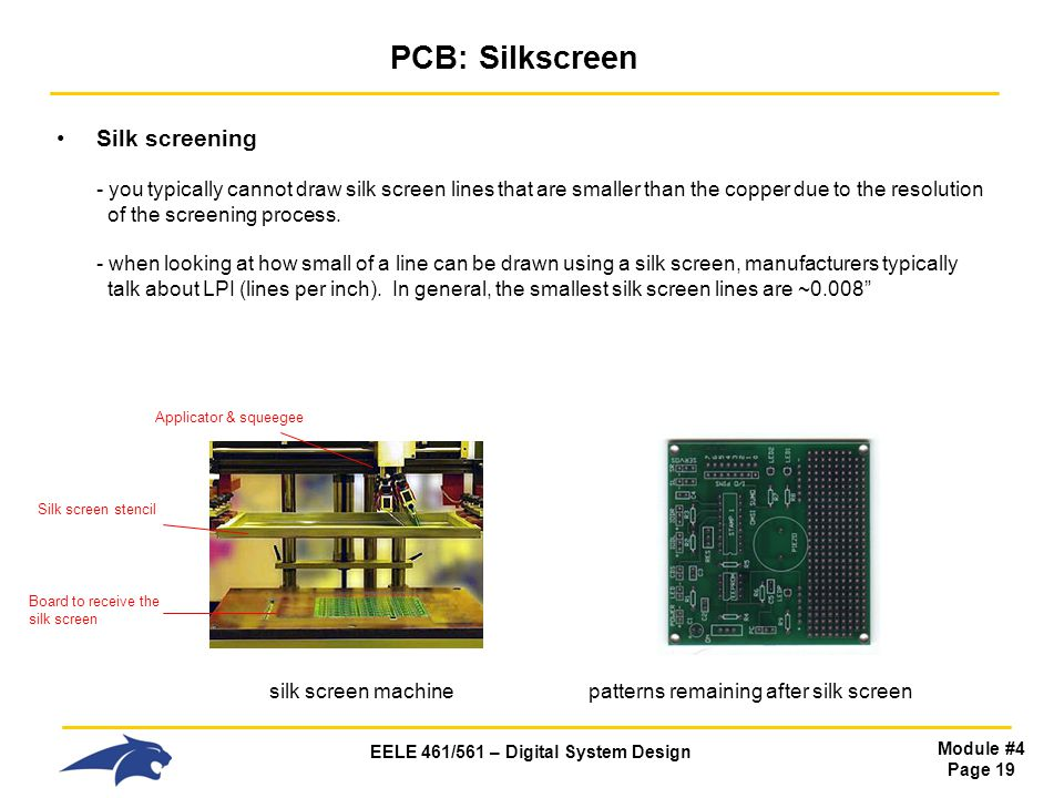 PCB: Silkscreen