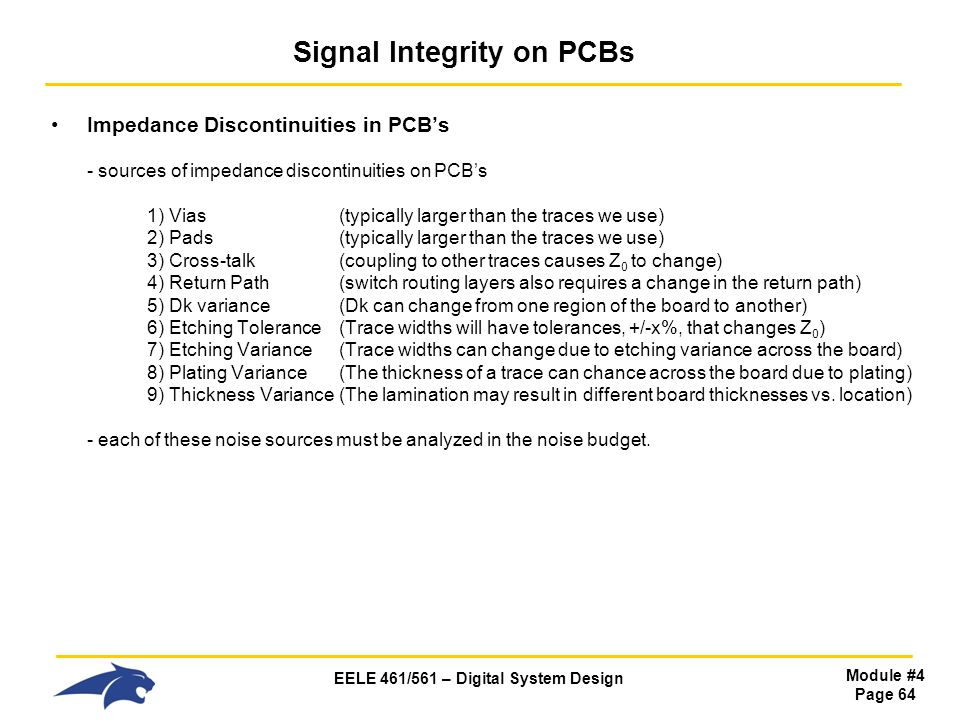 Signal Integrity on PCBs