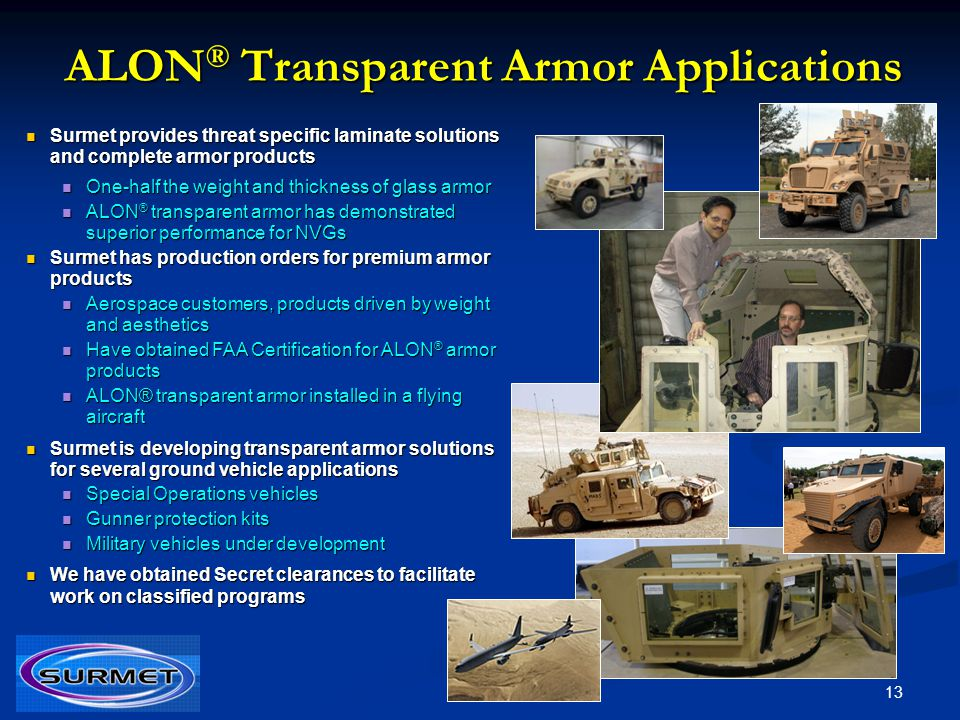 ALON® Transparent Armor Applications