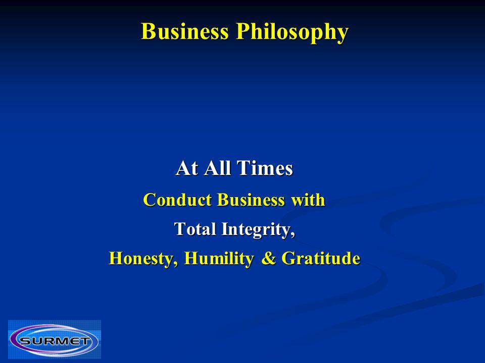 Honesty, Humility & Gratitude