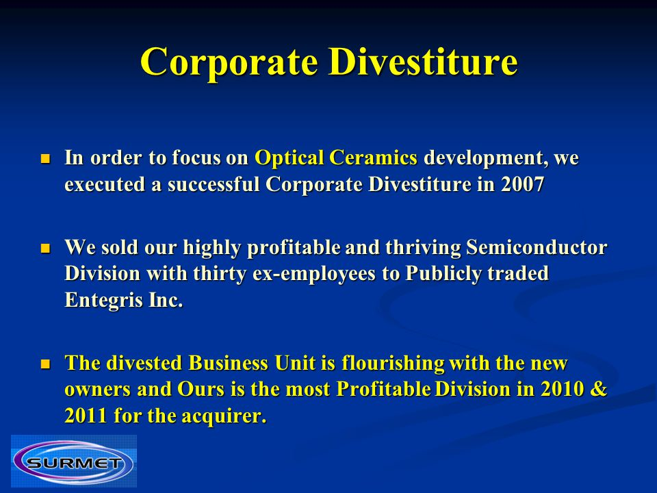 Corporate Divestiture