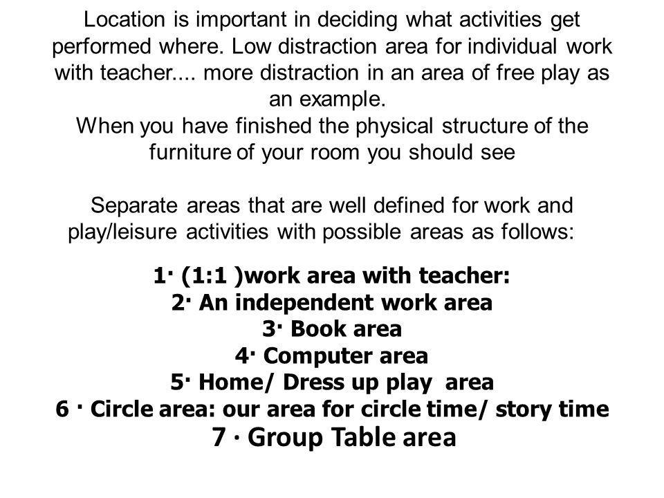 6 · Circle area: our area for circle time/ story time
