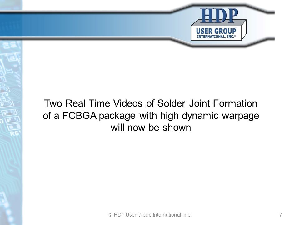 Two Real Time Videos of Solder Joint Formation