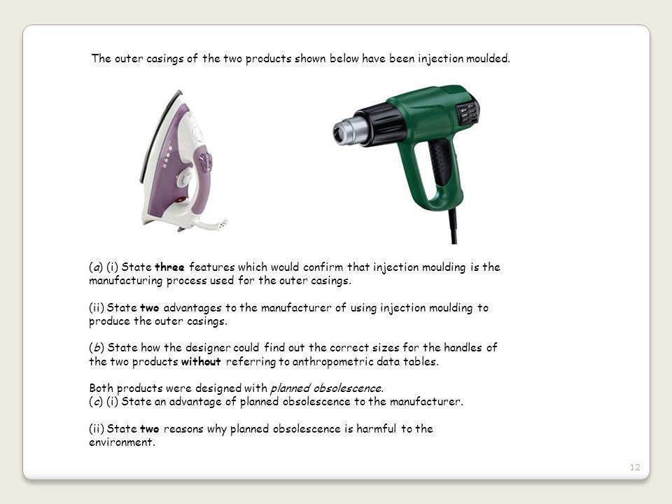 The outer casings of the two products shown below have been injection moulded.