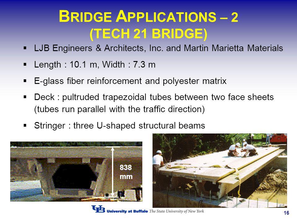 BRIDGE APPLICATIONS – 2 (TECH 21 BRIDGE)