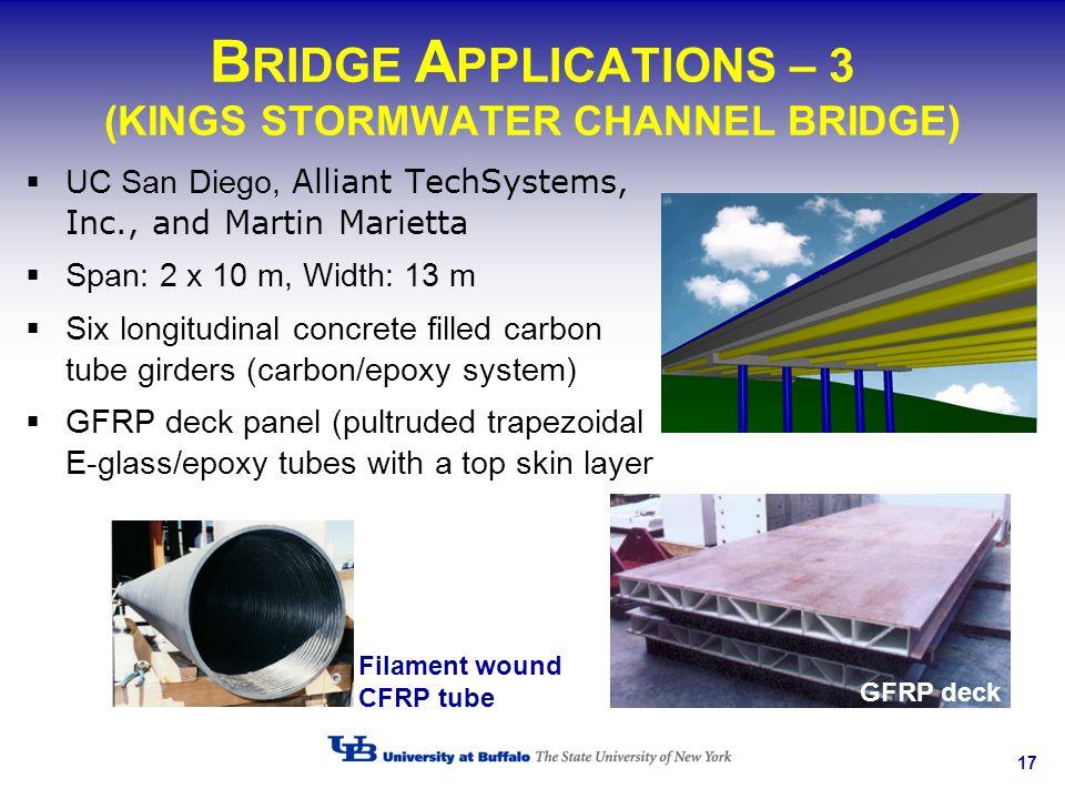 BRIDGE APPLICATIONS – 3 (KINGS STORMWATER CHANNEL BRIDGE)
