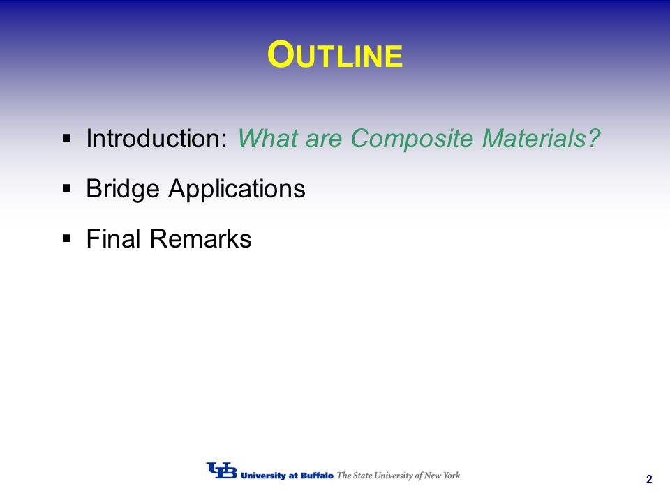 OUTLINE Introduction: What are Composite Materials