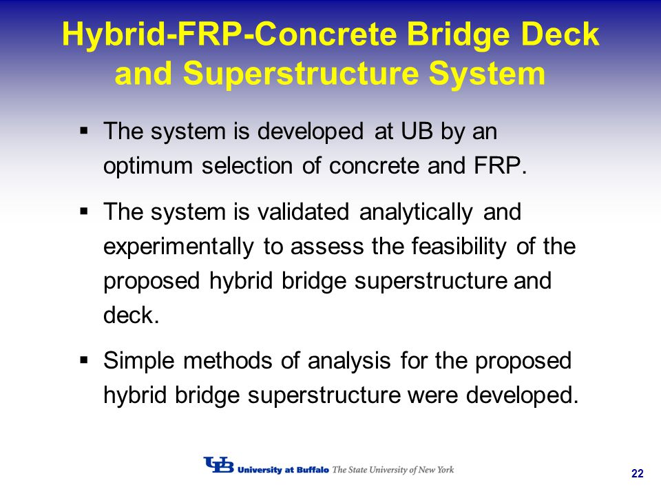 Hybrid-FRP-Concrete Bridge Deck and Superstructure System