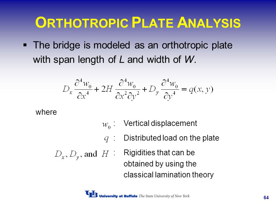 ORTHOTROPIC PLATE ANALYSIS