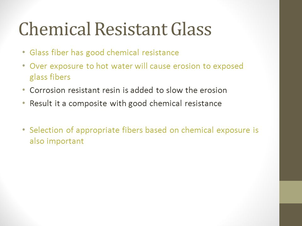 Chemical Resistant Glass