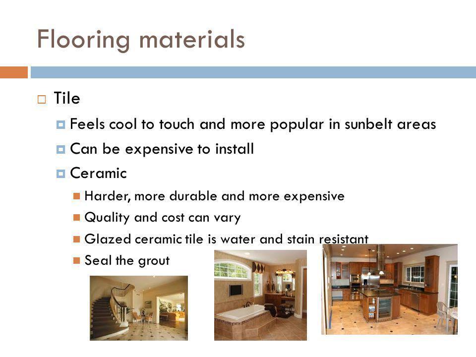 Flooring materials Tile
