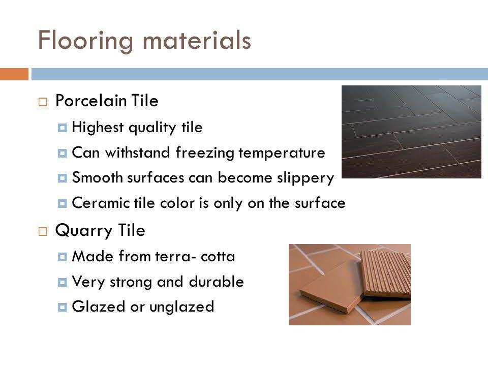 Flooring materials Porcelain Tile Quarry Tile Highest quality tile