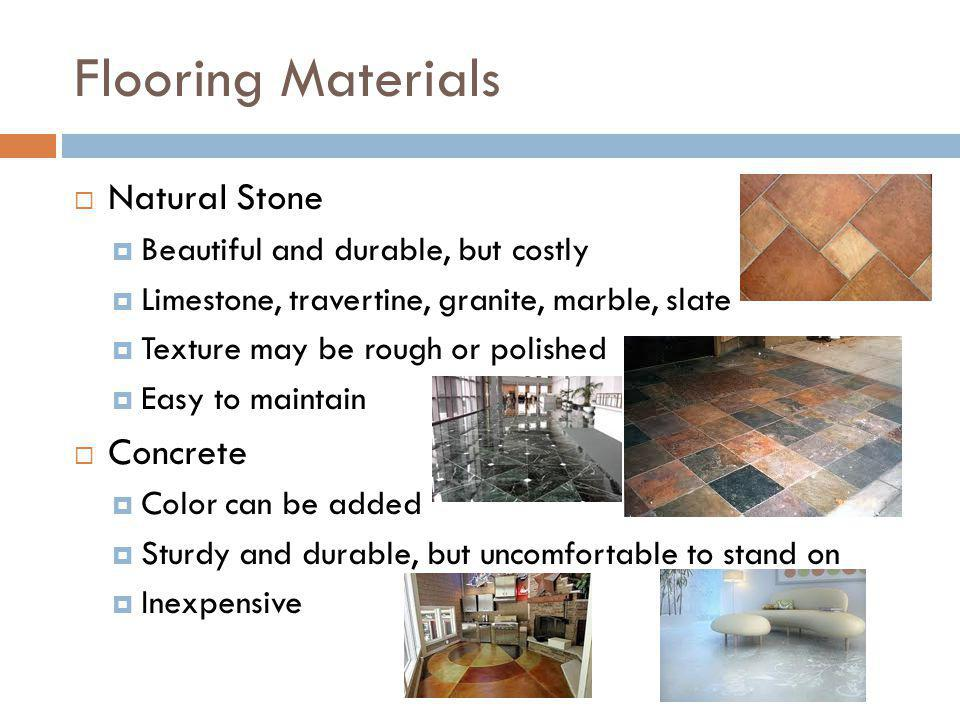 Flooring Materials Natural Stone Concrete