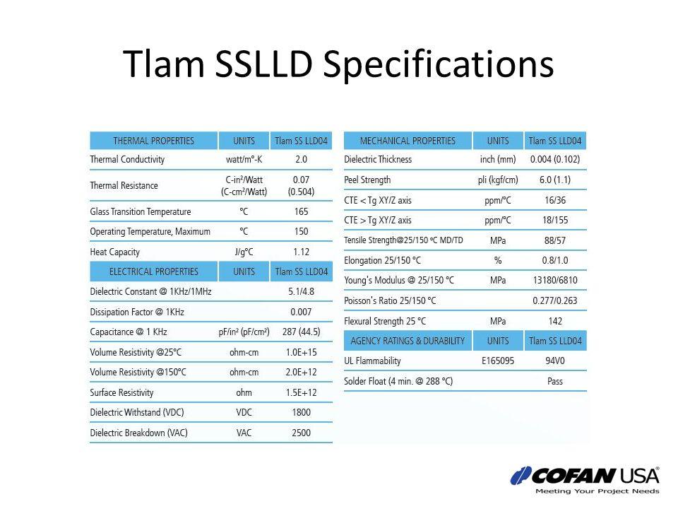 Tlam SSLLD Specifications