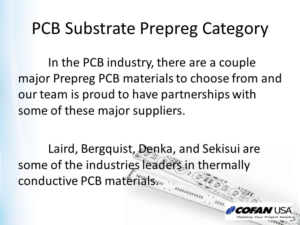PCB Substrate Prepreg Category