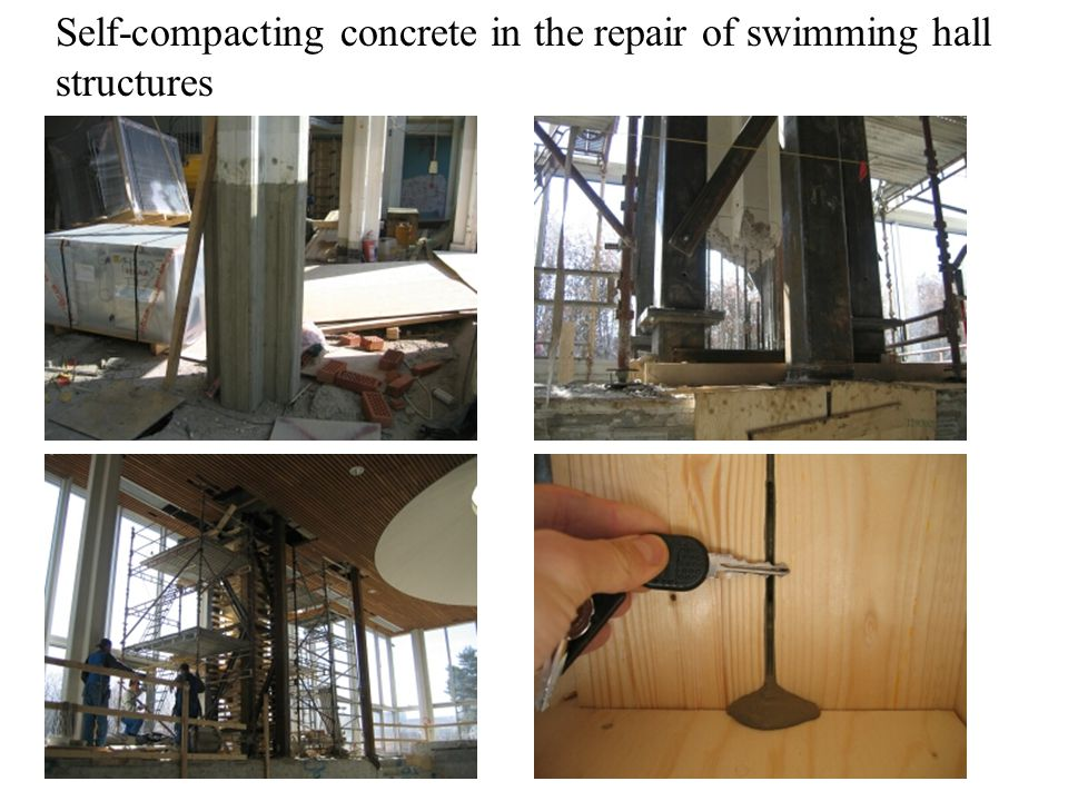 Self-compacting concrete in the repair of swimming hall structures