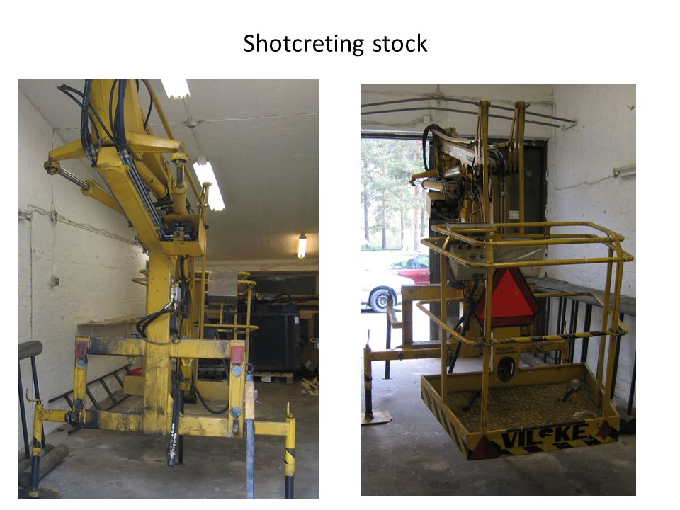Shotcreting stock
