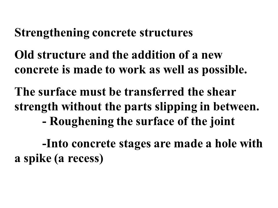 Strengthening concrete structures