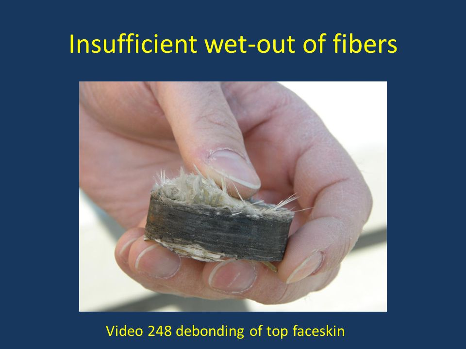 Insufficient wet-out of fibers