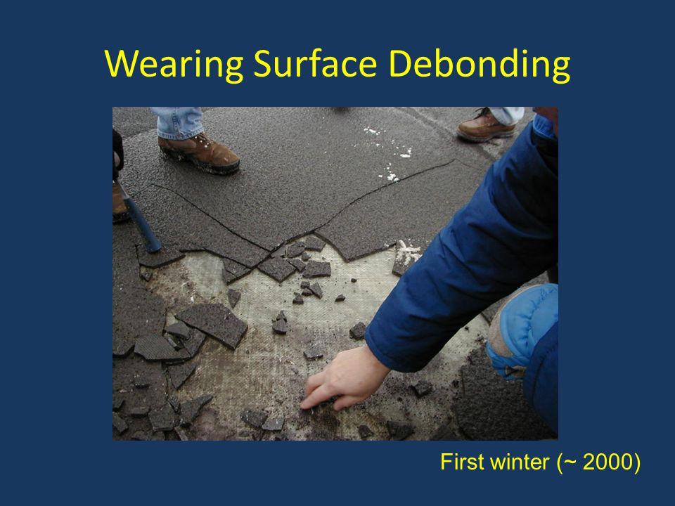 Wearing Surface Debonding