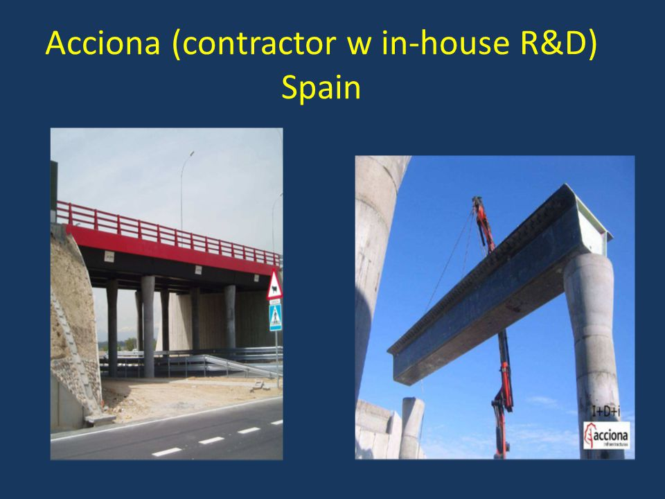 Acciona (contractor w in-house R&D) Spain