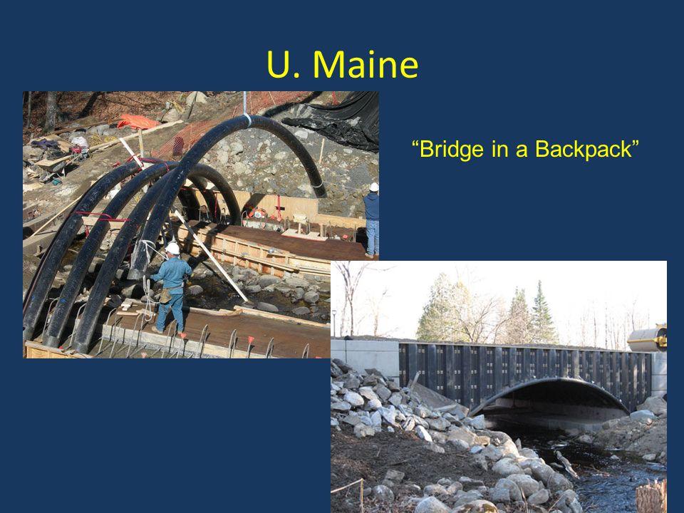 U. Maine Bridge in a Backpack