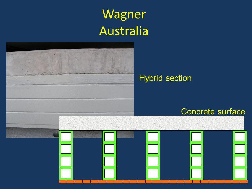 Wagner Australia Hybrid section Concrete surface Concrete surface