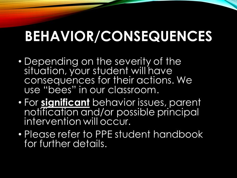 Behavior/Consequences