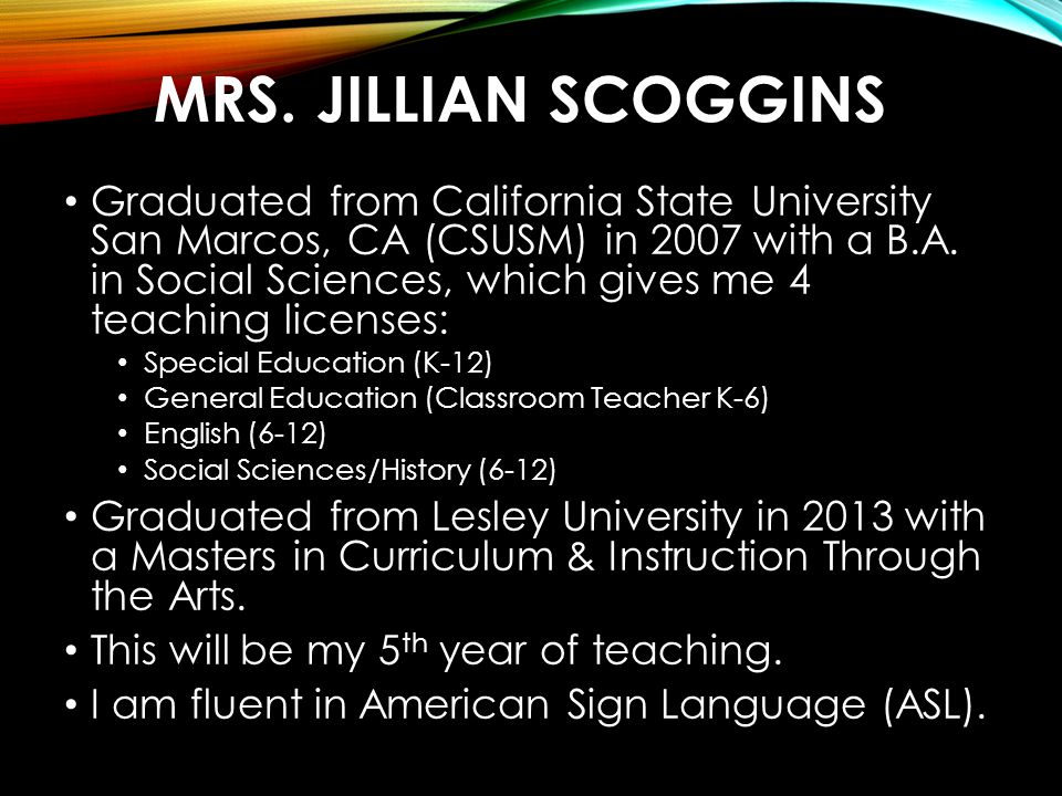 Mrs. Jillian Scoggins